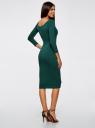 Платье облегающее с вырезом-лодочкой oodji #SECTION_NAME# (зеленый), 14017001-6B/47420/6900N - вид 3