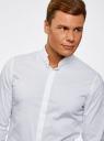Рубашка приталенная с воротником-стойкой oodji #SECTION_NAME# (белый), 3L140115M/34146N/1000N - вид 4