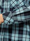 Платье-рубашка с карманами oodji #SECTION_NAME# (зеленый), 11911004-2/45252/7965C - вид 5