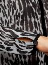 Блузка из струящейся ткани с контрастной отделкой oodji #SECTION_NAME# (серый), 11411059-2/38375/2029A - вид 5