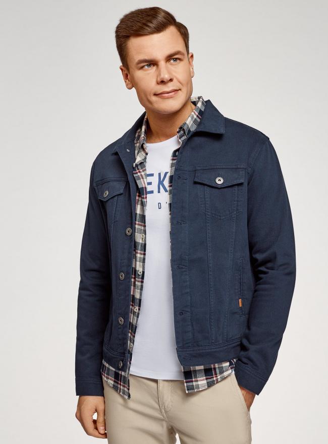 Куртка джинсовая на пуговицах oodji #SECTION_NAME# (синий), 6L300011M/35771/7900W