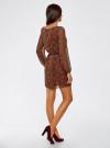 Платье из шифона с ремнем oodji для женщины (красный), 11900150-5/13632/4533E - вид 3