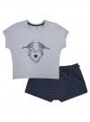 Пижама хлопковая с принтом oodji #SECTION_NAME# (серый), 56002230-1/46154/2079Z