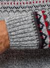 Свитер с зимним узором и пуговицами на воротнике oodji #SECTION_NAME# (серый), 4L305039M/25365N/2345J - вид 5