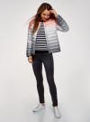 Куртка стеганая с круглым вырезом oodji для женщины (разноцветный), 10204040-1B/42257/4575T - вид 6