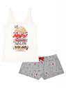 Пижама с шортами и принтом oodji для женщины (белый), 56002152-21/46158/1223P