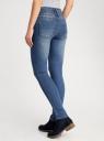 Джинсы slim с высокой талией oodji для женщины (синий), 12104053-1/18831/7000W