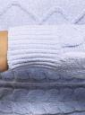 Джемпер укороченный вязаный oodji для женщины (синий), 63805350/48870/7000N