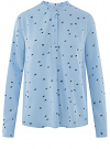 Блузка вискозная А-образного силуэта oodji #SECTION_NAME# (синий), 21411113-1B/48458/7029O