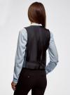 Жилет классический с декоративными карманами oodji #SECTION_NAME# (синий), 12300102/22124/7029C - вид 3