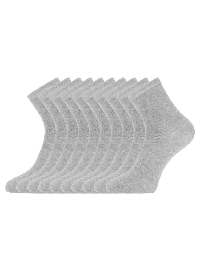 Комплект из десяти пар носков oodji для женщины (серый), 57102466T10/47469/2000M