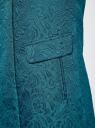 Пальто прямого силуэта из фактурной ткани oodji #SECTION_NAME# (бирюзовый), 10104043/43312/6C00N - вид 5