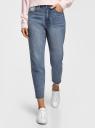 Джинсы mom fit с вышивкой oodji для женщины (синий), 12105110-13/50179/7500W