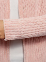 Кардиган фактурной вязки без застежки oodji #SECTION_NAME# (розовый), 63201002/47937/4000N - вид 5