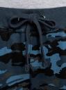 Брюки трикотажные на завязках oodji для женщины (синий), 16701042B/46919/7579O