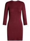 Платье базовое с рукавом 3/4 oodji для женщины (красный), 63912222-1B/46244/4900N