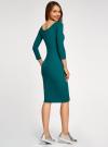 Платье облегающее с вырезом-лодочкой oodji #SECTION_NAME# (зеленый), 14017001-6B/47420/6E00N - вид 3