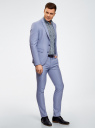 Пиджак приталенный классический oodji для мужчины (синий), 2L420223M/48038N/7500O