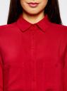 Блузка базовая из вискозы с карманами oodji для женщины (красный), 11400355-4/26346/4500N