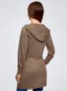Кардиган с поясом и накладными карманами oodji #SECTION_NAME# (коричневый), 63212601/43755/3900M - вид 3