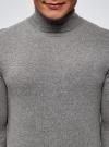 Свитер базовый из хлопка oodji для мужчины (серый), 4B312003M-1/34390N/2301M - вид 4