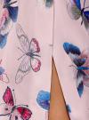 Юбка в складку с запахом oodji #SECTION_NAME# (розовый), 13G00003B/42662/4079U - вид 5
