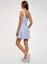 Платье на бретелях с расклешенным низом oodji для женщины (синий), 14015021-4/48436/7079P