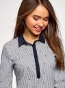 Рубашка принтованная oodji для женщины (синий), 13K03002-3B/45202/1079S