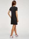 Платье трикотажное с декором oodji #SECTION_NAME# (черный), 14000162-18/47481/294DP - вид 3