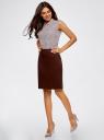 Юбка хлопковая прямая oodji для женщины (коричневый), 21601275-1/14522/3900N