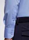 Рубашка базовая приталенная oodji для мужчины (синий), 3B140000M/34146N/7000N - вид 4