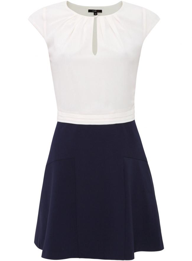 Платье oodji для женщины (белый), 11913019/43195/1279N
