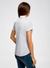 Рубашка базовая с коротким рукавом oodji #SECTION_NAME# (белый), 11402084-5B/45510/1000N - вид 3