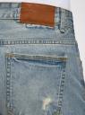 Шорты джинсовые с потертостями oodji #SECTION_NAME# (синий), 6L220016M/35771/7000W - вид 5