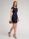 Платье трикотажное кружевное oodji для женщины (синий), 14001154-2/42644/7900N - вид 5