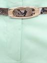 Брюки-чиносы с ремнем oodji для женщины (зеленый), 21703094-3/33482/6500N