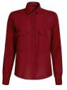 Рубашка в мелкую графику с карманами oodji #SECTION_NAME# (красный), 21441095/43671/4549G