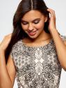 Платье вискозное с поясом базовое oodji для женщины (разноцветный), 11910073-3/26346/3029E