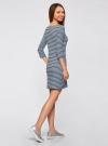 Платье трикотажное в полоску oodji #SECTION_NAME# (синий), 14001071-11/46148/7029S - вид 3