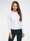 Рубашка хлопковая с манишкой oodji #SECTION_NAME# (белый), 21405133/42083/1000N - вид 2