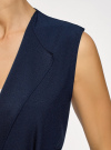 Жилет из струящейся ткани с поясом oodji для женщины (синий), 22305004-1/43859/7900N - вид 5