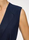 Жилет из струящейся ткани с поясом oodji #SECTION_NAME# (синий), 22305004-1/43859/7900N - вид 5