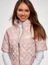 Куртка стеганая принтованная oodji #SECTION_NAME# (розовый), 10207002-1/45419/4012F - вид 4