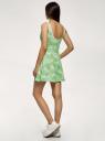 Платье принтованное с расклешенным низом oodji для женщины (зеленый), 14015021-5/48436/6212F