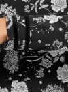 Футболка с длинным рукавом и контрастной отделкой oodji для женщины (черный), 14201042/46147/2923F - вид 5