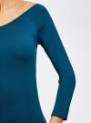 Платье облегающее с вырезом-лодочкой oodji #SECTION_NAME# (синий), 14017001-6B/47420/7901N - вид 5