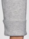 Кардиган вязаный с ажурной спинкой oodji для женщины (серый), 73212324-3/48117/2000M - вид 5