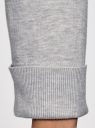 Кардиган вязаный с ажурной спинкой oodji #SECTION_NAME# (серый), 73212324-3/48117/2000M - вид 5