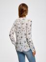 Блузка вискозная прямого силуэта oodji #SECTION_NAME# (слоновая кость), 21400394-1B/24681/3074O - вид 3