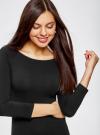 Платье облегающее с вырезом-лодочкой oodji для женщины (черный), 14017001-6B/47420/2900N - вид 4